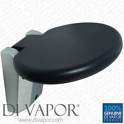 Di Vapor (R) Round Folding Wall Mounted Shower Enclosure Seat - 30cm - Fold