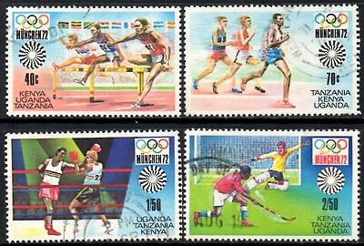 (Ref-11125) East Africa K.U.T. 1972 Olympic Games  SG.108/111 Used