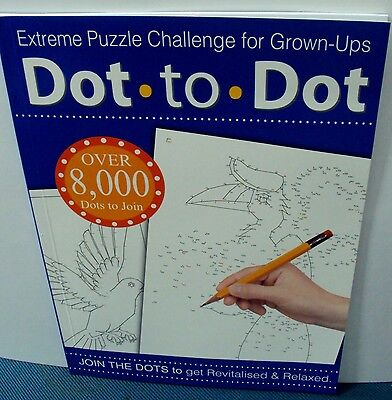Extreme Dot To Dot Colour Book Drawing Puzzle Children Adult Challenge - birds