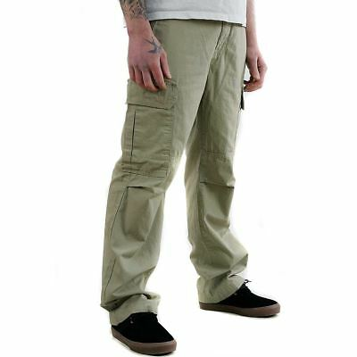 Dickies Apparel New York Cargo Pants Trouser Khaki Green Range New Free Delivery