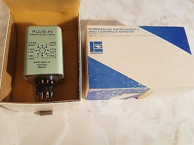 NEW IN BOX EMERSON CHROMALOX PLUG-IN POWER SUPPLY SPS-2011-P 24v DC 90MA