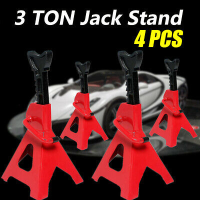 4pc Car Jack Stand 3T 3000kg Ratchet Adjustable Lift Hoist Heavy Duty Steel AU