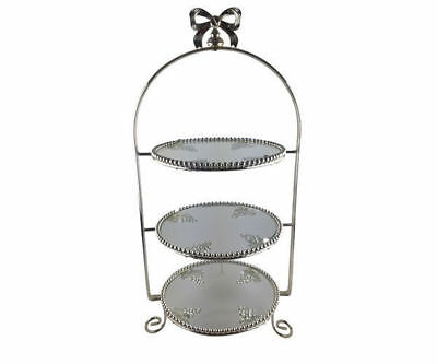 Wedding & Event Decoration - Cake Stand Metal 3 Tier High Tea Cake Stand - Glass