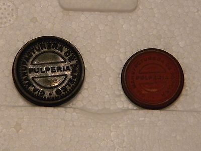 Chile tokens: Cia Manufacturera de Papeles 10 and 20 centavos