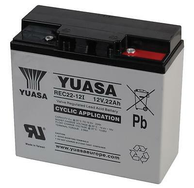 YUASA 12V 22AH (Replace 17AH 18AH) SEALED LEAD ACID Battery Deep Cycle use