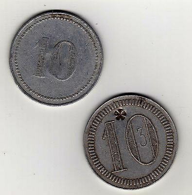 Argentina tokens: 10 with counterstamp (2 different)