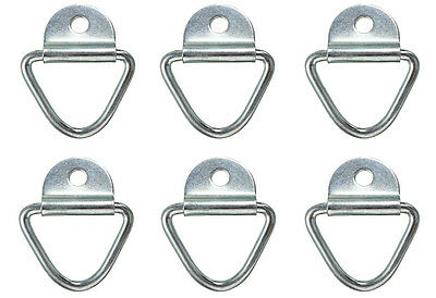 6 x Tie Down Lashing Rings Cleat Truck Van Horsebox Trailer Transporter Ring HGV