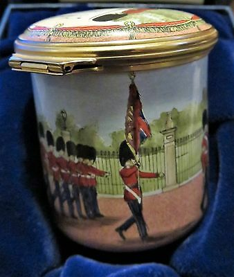 """Halcyon Days Enamels Trinket Box """"They're Changing Guard at Buckingham Palace"""""""