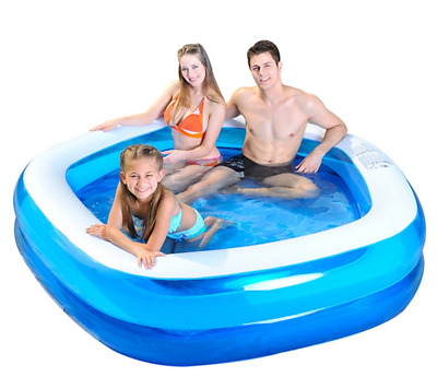 """Kiddie Pool Giant Inflatable Family and Kids Pentagon Pool Almost 7 Feet 79"""" NEW"""