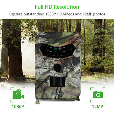 Hunting Trail Wildlife Camera 12MP 1080P Full HD LED IR Night Vision+16GB TF