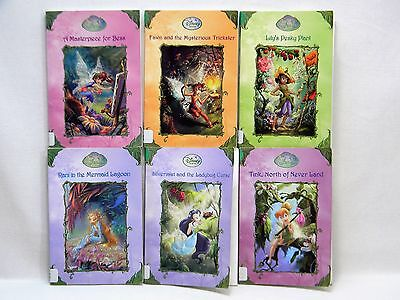 LOT of 6 DISNEY FAIRIES Series Children's Chapter Books - Tinkerbell Fawn Bess