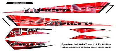 SEA-DOO Speedster 200 Wake Tower 430 PS DECAL