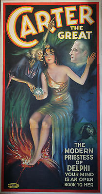 """CARTER THE GREAT"" Affiche originale U.S. entoilée Litho 1935"