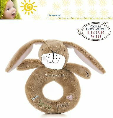 Guess How Much I Love You Hare Nut Brown Plush Loop Ring Rattle - Baby Gift Toy