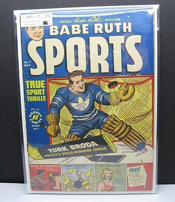 1950 Babe Ruth Sports #7 Turk Broda Cover-Toronto Maple Leafs-Rare
