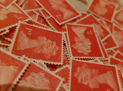 100 1st class stamps unfranked off paper No Gum Perfect for your occasion