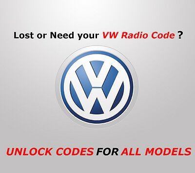 Vw Volkswagen Radio Code All Rcd Models  | Fast Service | Best Offer