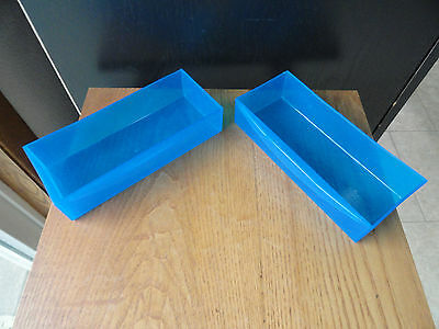 2 Lite Brite Cube Replacement Drawers ONLY Blue 2001 Hasbro
