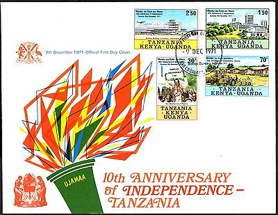 (Ref-11134) East Africa K.U.T.1971 Tanzania Independence SG96/99 First Day Cover