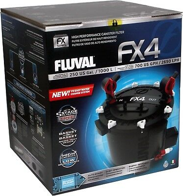 Fluval FX4 External Filter - CANISTER AQUARIUM - FISH - MARINE - TROPICAL - NEW