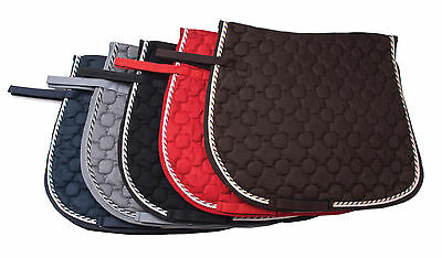Rhinegold Suedette Saddle Pad - One Size Cob/Full Horse