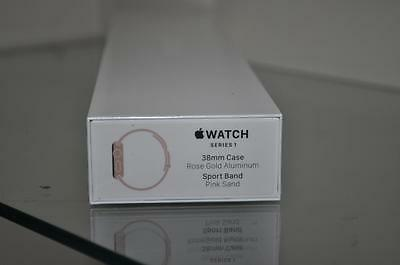 Apple Watch Series 1 38mm Rose Gold Aluminum Case Pink Sand Sport Band MNNH2LL/A