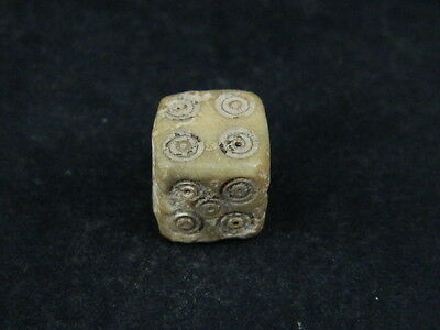 Ancient Shell/Bone Gaming Dice Roman C.200 BC #BE5178