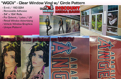 "See-Through Window Graphic Vinyl - CIRCLE Pattern - 54""x164' - ""WGCV"""