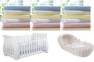 Moses Basket - Cot - Cot Bed - Junior Bed Soft 100% Cotton Fitted Sheets