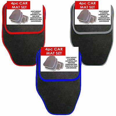 4 Piece Front & Rear Black Car Mat Carpet Non-Slip Grip Universal Floor Mats