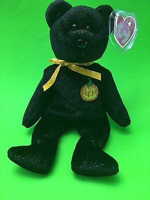 Ty Beanie Baby Haunt The Bear Black With Pumpkin On Chest Halloween Bear Retired