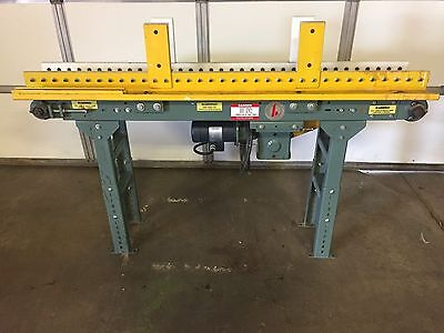 """71"""" x 8"""" Huss Power Conveyor With Removable  Edge Guides"""