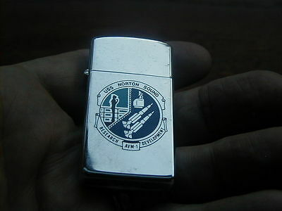 1985 Near Mint Slim Zippo Lighter Uss Norton Sound Research Avm-1 Development