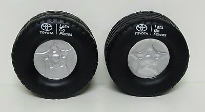 TOYOTA Stress Ball Tire Factory Promo 2 Pack Authentic Diameter 2.5 inches NEW