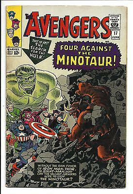 AVENGERS # 17 (Minor HULK APP. THE MINOTAUR, JUNE 1965), FN