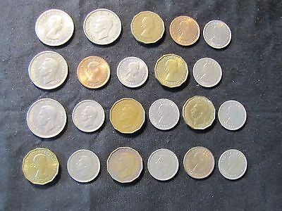 Lot of 22 1937-1966 Great Britain Coins - 6x Threepence, 4x Shilling,9x Sixpence