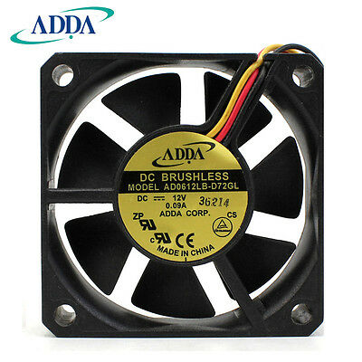 ORIGIANL ADDA AD0612LB-D72GL 12V 0.09A Power samsung TV fan 3 months warranty