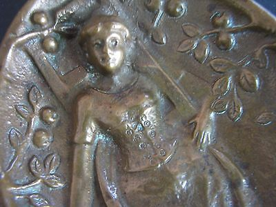Victorian Calling Card Tray Naughty Bronze