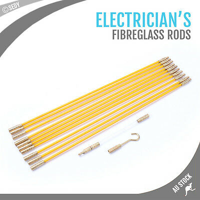 Cable Rods Electricians Fibreglass Push Pull Rods Flexible Extension Electrical