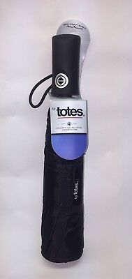 "Totes Titan Techauto Open / Auto Close Windproof Umbrella 43""arc Water Repellant"