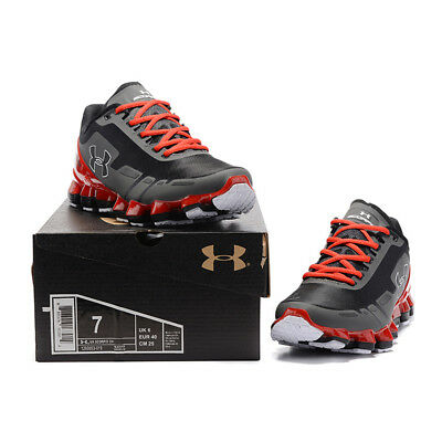 Fashion Men's Under Armour Mens UA Scorpio Running Shoe Gray/Red Leisure shoe
