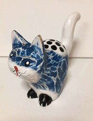 Wooden Hand Painted Cat