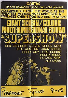 Supershow 1972 (first release) Australian/NZ Poster - Led Zeppelin poster