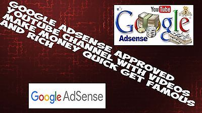 i will create you a youtube channel with 100 videos and google adsense