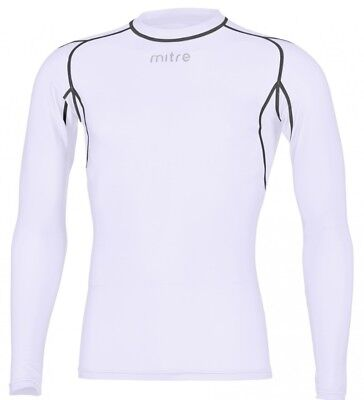 Mitre YOUTH Long Sleeve Compression Top- White