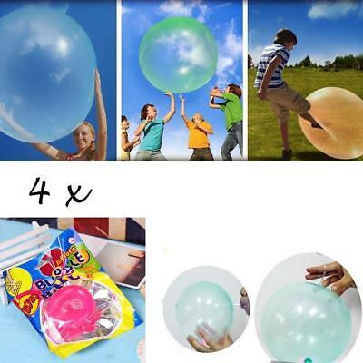 4 pieces Inflatable Fun Ball Bubble Ball Ø up to 40 cm Pink Purple Green Yellow