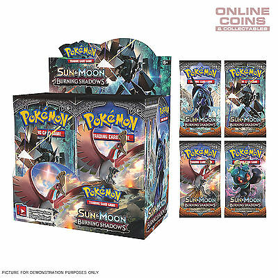 POKEMON TCG Sun & Moon BURNING SHADOWS 4 x10 Card Booster Packs 40 CARDS TOTAL