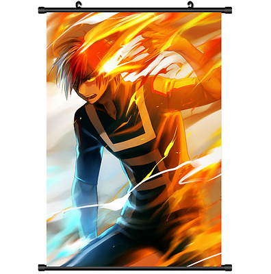 Anime Boku no hero academia My Hero Todoroki Poster Wall Scroll cosplay 2729