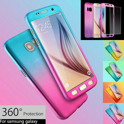 360° Full Protective Case for Samsung Galaxy S7 Edge S8 Plus Note 8 Phone Cover