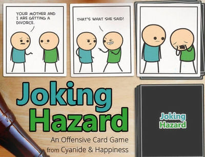 Joking Hazard 360 Cards Board Game Coated Paper Good Quality Best Present NEW